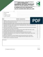 Form Pemeriksaan JAS Kantin Sekolah