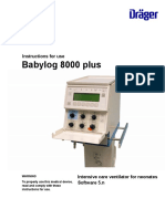 Manual Usuario (Enghlis) Babylog 8000 Plus