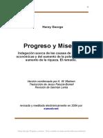 Progreso y miseria. Henry George