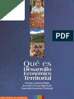Que Es El Desarrollo Economico Territorial Cedet
