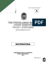 Soal Tryout Matematika Paket a 2017