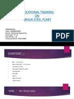 Vocational training at Bhilai Steel Plant, Durg.pptx