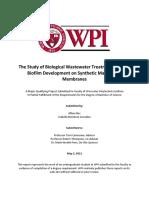 Study of Biological Wastewater Treatment through Biofilm Development