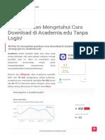 Mengenal Dan Mengetahui Cara Download Di Academia.edu Tanpa Login!