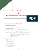 ecuaciones lineales Exactas