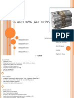 3G and BWA Auctions