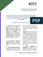 20120503Resumen Reglamento Parcial LOTTT
