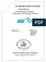 Airline Reservation System Report