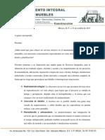 Carta de Servicios de Mantenimiento Integral Arq. Manuel Ortiz Martínez
