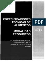 Especificaciones Tecnicas Por Productos Qw