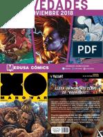 Novedades Medusa Cómics Noviembre 2018