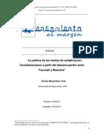 Tello Andres, La politica de los modos de subjetivacion (Foucault y Ranciere).pdf