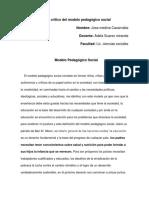 Texto Crítico Del Modelo Pedagógico Social