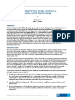 Optimizing Pv Plant Design to Achieve a Low Levelized Cost of Energy