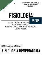 Clase VI Fisiologia respiratoria Fisiología UGM