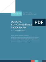 DASA - DevOps Fundamentals Mock Exam