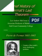 History of Fermat's Last Theorem