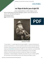 Walt Whitman y Sus 'Hojas de Hierba' Para El Siglo XXI _ Cultura _ EL PAÍS