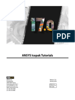 ANSYS Icepak Tutorials r170