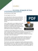 Antecipação Da Tutela, Obrigação de Fazer e Honorários Advocatícios - José Rogério Tucci