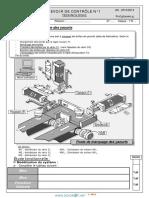 Devoir de Contrôle N°1 (Avec correction)  Lycée pilote - Technologie poste automatique de poinçonnage - 1ère AS Toutes Sections (2013-2014) Mr ghanem ghanem