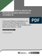 C14-EBRS-32 EBR Secundaria Matemática