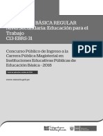 C13-EBRS-31 EBR Secundaria Educación Para El Trabajo