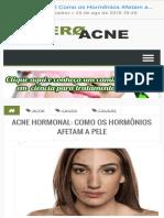 Acne hormonal)