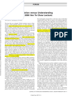 Dawdy. 2007. Prediction Versus Understanding (the 2006 Ven Te Chow Lecture)