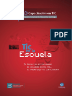 """CGE """"TIC en La Escuela. Proyectos Institucionales de Inclusión Digital Para El Aprendizaje y El Conocimiento"""""""