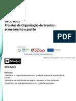 Slides Ufcd 0501 Projetos de Organizaao de Eventos- Planeamento e Gestao 1
