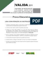 2011 Prova Discursiva 2011