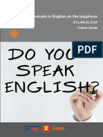 TG Communicate in English on the Tel 2920812