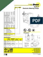 Series P Data Sheet 1713E 8-01