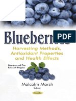 Blueberries Harvesting Methods, Antioxidant Properties and Health Effects