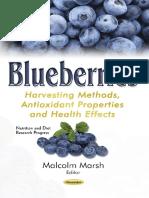 Blueberries Harvesting Methods, Antioxidant Properties and Health Effects