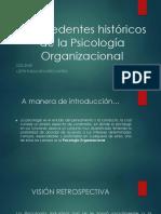 Antecedentes Históricos de La Psicología Organizacional
