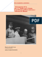 Stalin & Hoxha - Reunión de Abril de 1951 (Registro Soviético) - CM-L