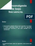 Electroanalgesia de Baja Frecuencia