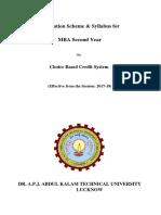MBA 2nd Sem Syllabus Finance