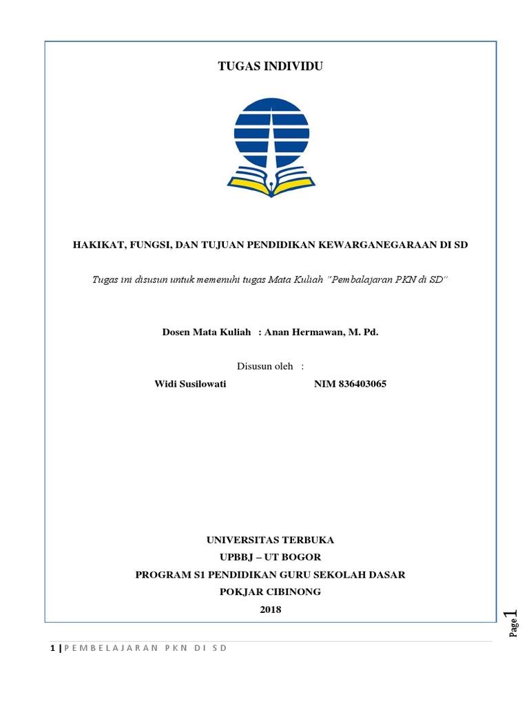 Tugas Mandiri Pkn Merangkum Modul 1 Widi Susilowati Kls 1a Bi Pgsd Docx