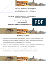 Multi-Objective Crop Production Planning for a Highland Agriculture Cooperative in Thailand