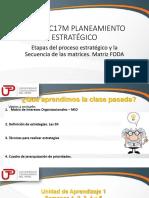 Etapas Del Proceso Estratégico y La Secuencia de Las Matrices.matriz FODA