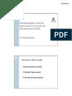 Documentaçao, controle de documentos e controle operacional