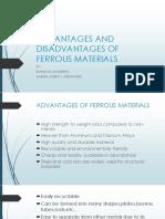 Advantages and Disadvantages of Ferrous Materials