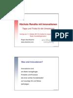 Höchste Rendite mit Innovation - Tipps und Tricks für die Umsetzung