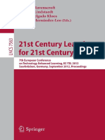 (Lecture Notes in Computer Science 7563 Programming and Software Engineering) Richard Noss (Auth.), Andrew Ravenscroft, Stefanie Lindstaedt, Carlos Delgado Kloos, Davinia Hernández-Leo (Eds.)-21st Cen