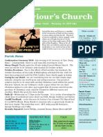 st saviours newsletter - 21 october 2018