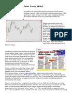 Cara Join Trading Forex Tanpa Modal