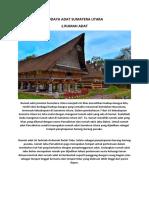 Budaya Adat Sumatera Utara